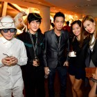 Co-founders of Butter Factory (extreme left & 2nd from left), DJ Andrew T (middle) and guests