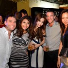 Fay Hokulani (2nd from left), blogger Dawn Yang (middle) and guests at Johnnie Walker Circuit Lounge