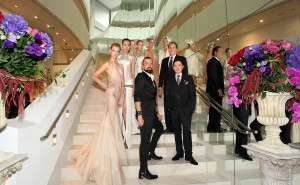 Frank Cintamani and Mark Juliano with Julien Fournié and models