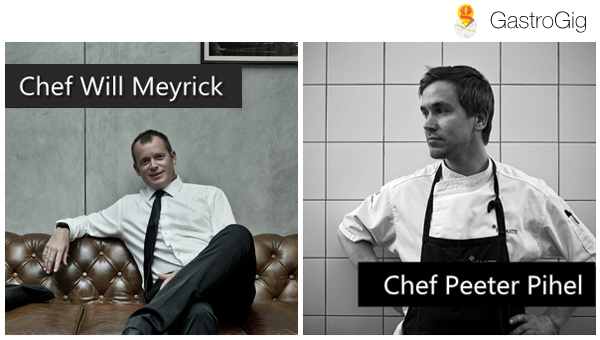 Gastrogig - Celebrity Chefs, Chef Will Meyrick and Chef Peeter Pihel
