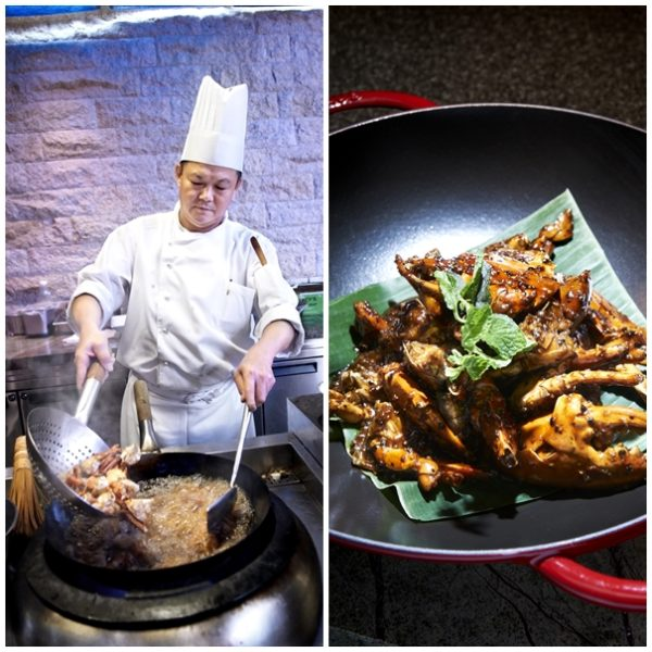 Edge, Pan Pacific Singapore - Chef Kwang Deep Frying Black Pepper Crab