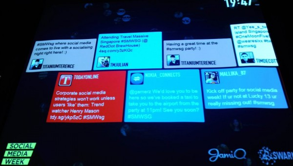 Social Media Week Singapore 2013 - Twitter Live Feed Chanel 2012