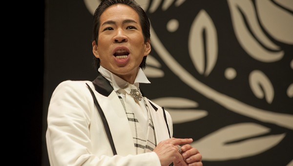 Chua Enlai as Gwendolen Fairfax in the play, Importance of Being Earnest