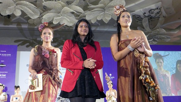 World Gourmet Summit, Hearts on Fire - Bhavana Sadhwani (NAFA) with her Models for Edible Fashion Show 2