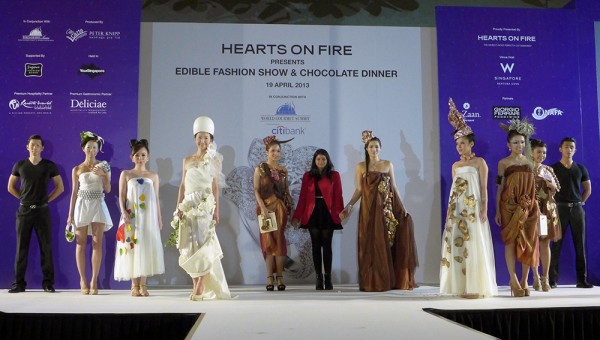 World Gourmet Summit, Hearts on Fire- Bhavana Sadhwani (NAFA) with her Models for Edible Fashion Show