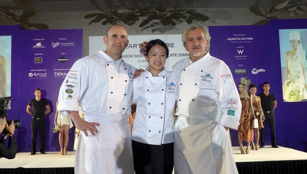 World Gourmet Summit, Hearts on Fire Edible Fashion Show - Chef Paco & Jacob Toreblanca with Chef Janice Wong
