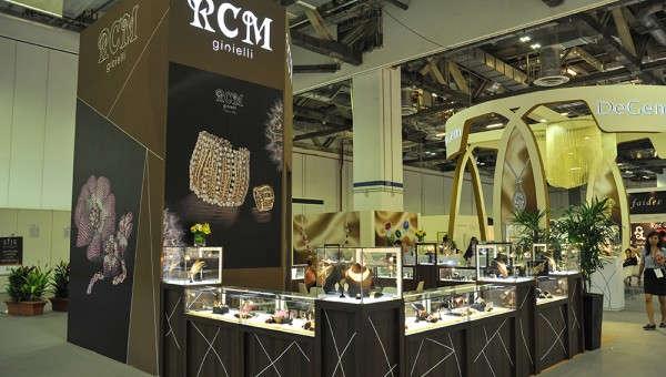 RCM gioielli booth at the Singapore International Jewelry Expo (SIJE) 2013