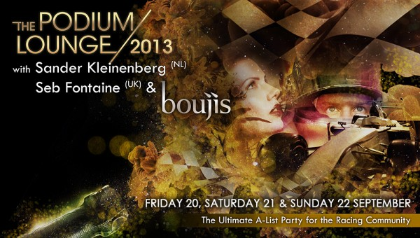 The Podium Lounge 2013 - FRIDAY 20 SEP to SUNDAY 22 SEP
