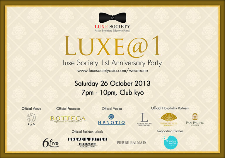 Luxe@1 - Luxe Society First Anniversary Celebrations Party