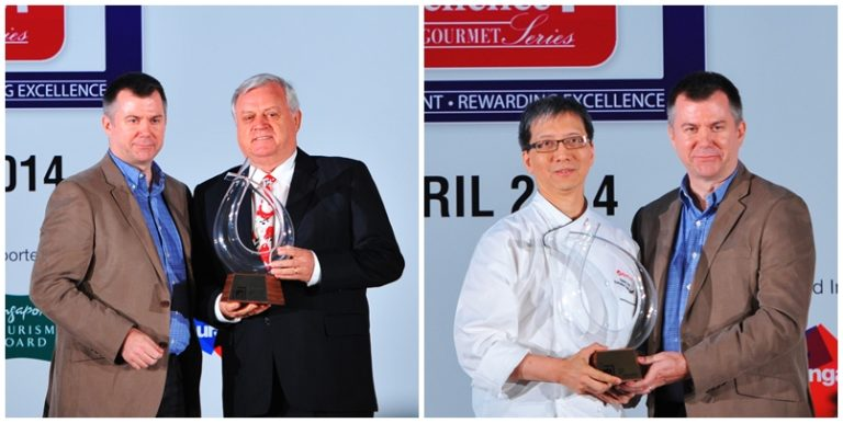 2014 World Gourmet Summit -  The Macallan Lifetime Achievement Award Awardees, Mr. Alan Palmer, and Chef Kenny Kong