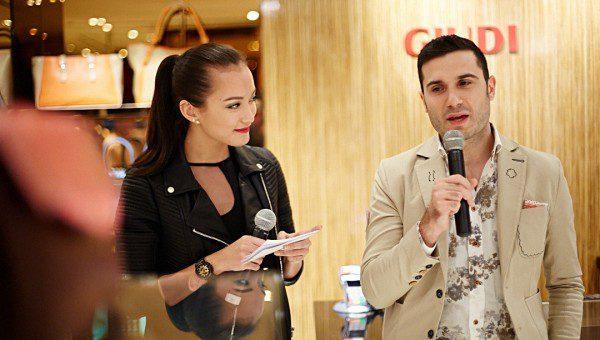 GIUDI Mandarin Gallery MTV VJ Hanli Hoefer and GIUDI CEO, Mr Eros Pennacchioni