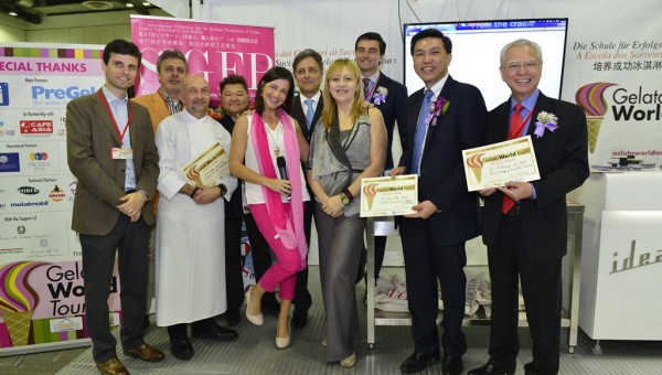 Gelato World Tour 2015 - Presentation of Gelato Angel Certificates to Mr Edward Liu and Mr Tan Kai Hoe, Chief executive, SPRING Singapore by Gelato World Tour