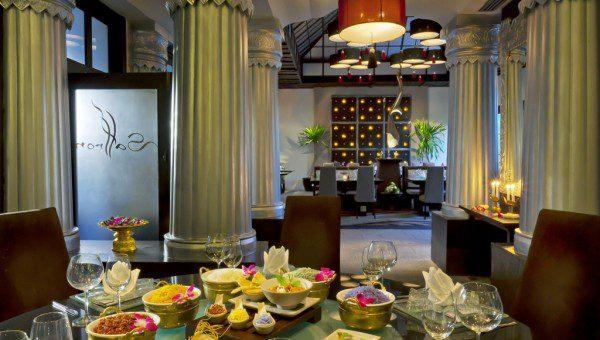 Banyan Tree Restaurant Saffron food on table
