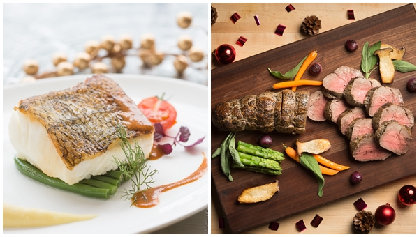 The South Beach ADHD Pan-fried Sea bass and Roasted Beef Tenderloin