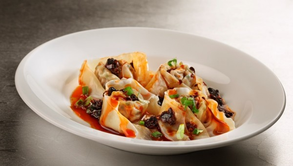 Meat Dumplings with Chilli Oil and Vinegar at Noodles