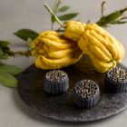 Black Sesame, Buddha's Hand Truffle Snowskin