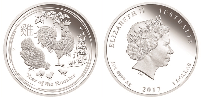 Silver Year of the Rooster Coin