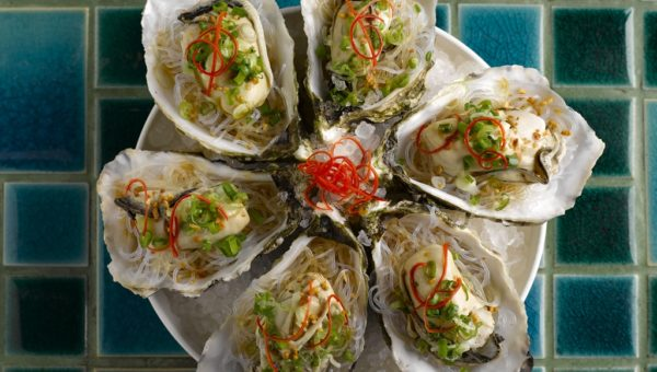 Steamed King Oysters with Garlic & Shallots