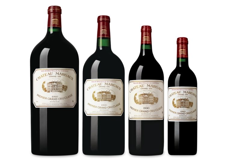 Chateau Margaux - Pyramid Set of 1990 Vintage