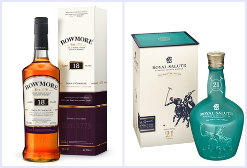 Bowmore and Royale Salute