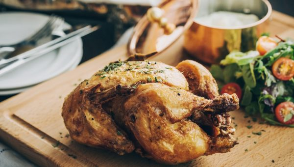 Dinner Le Coquelet De Ferme Rôti aux Herbes de Provence