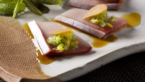 ZUMA - Yellowtail sashimi with garlic ponzu