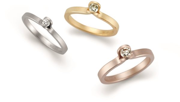 Niessing Lotus Rings (Fine Gray Coated, Classic Yellow Gold and Rosewood Gold)