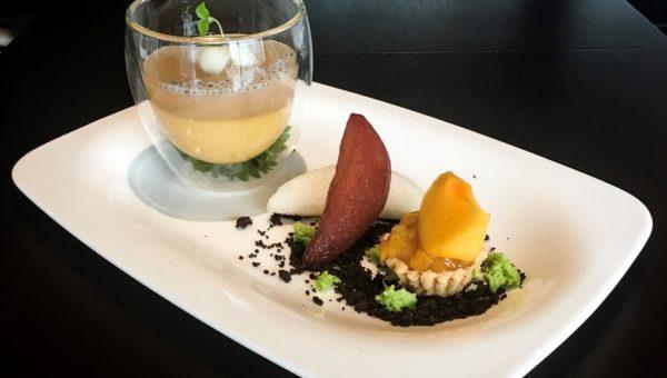 'Niitaka-nashi' Pear, 'Okesa-gaki' and Persimmon