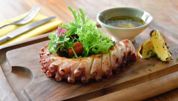 Grilled Atlantic Octopus Leg with Herbs