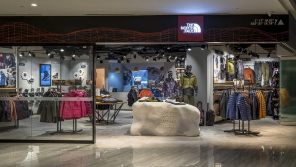 The North Face Outdoor Training Station is a first-of-its-kind outdoor retail facility