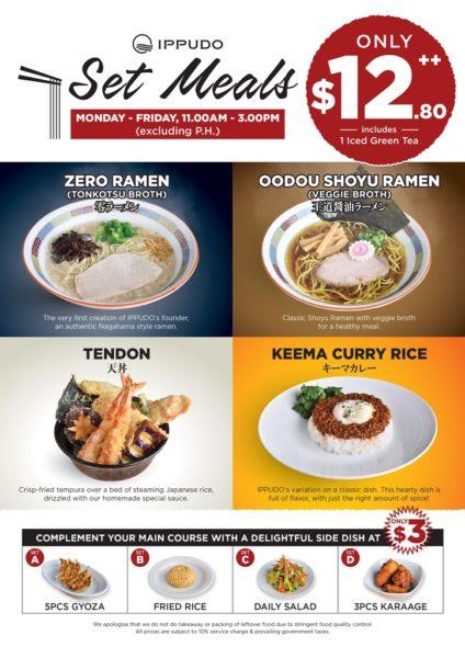 IPPUDO set meals