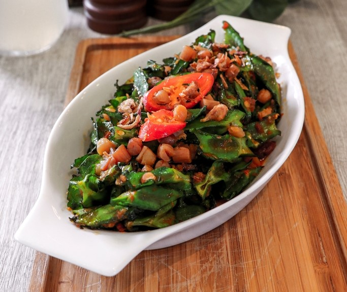 Stir-fried Winged Bean with Chilli & Dried Shrimps - $7.90