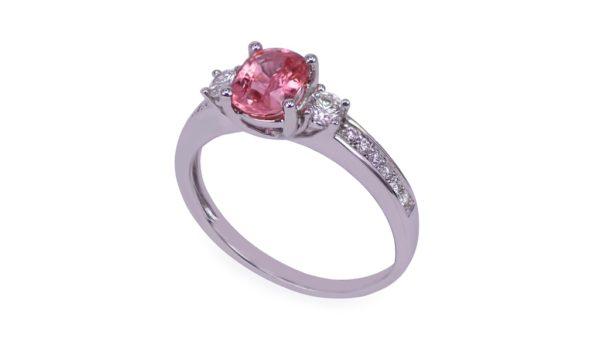Unheated Padpardscha Sapphire Ring