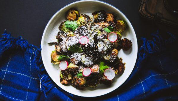 LES45 - Brussels Sprouts, Guajillo, Chorizo & Cotija