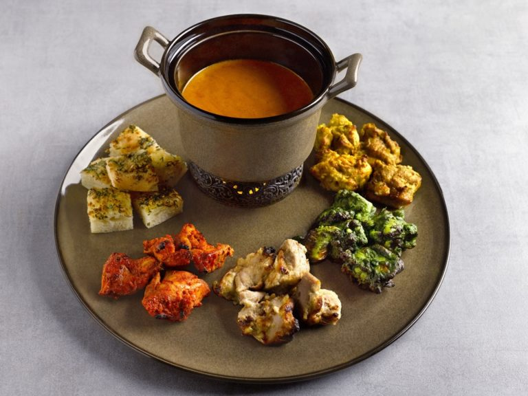 Tandoori Fondue – An Ensemble of Kebabs ($58)