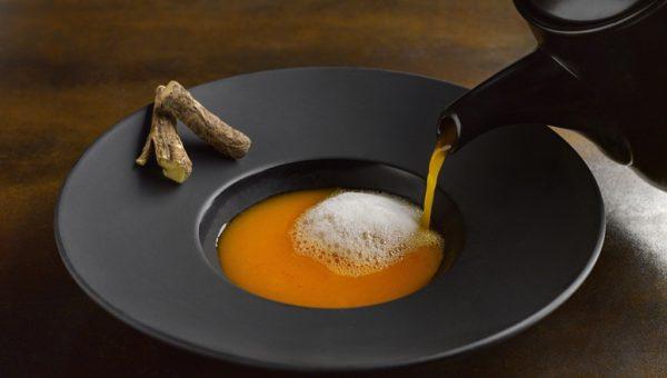 Tomato Saar, Mulethi Herb Foam ($20)