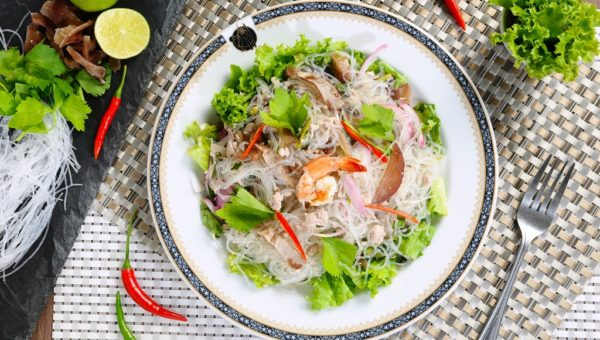 Yum Woon Sen (Thai Spicy Vermicelli Salad)