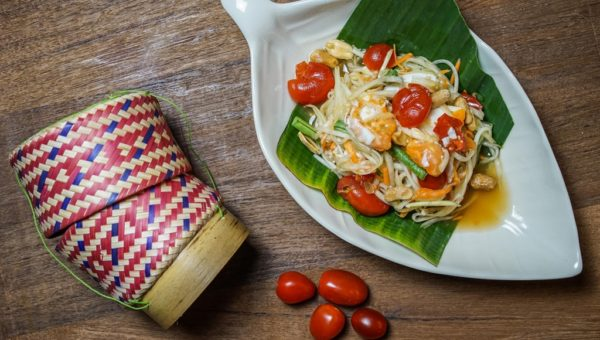 Thai Papaya Salad with Salted Egg