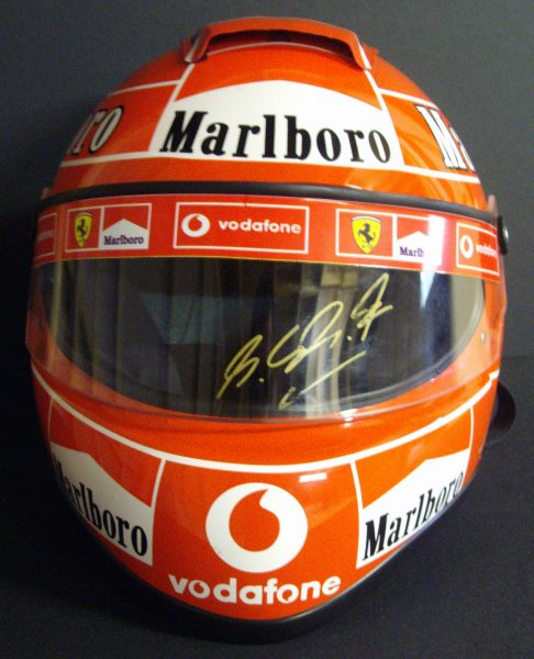 CHARITY AUCTION - MICHAEL SCHUMACHER SIGNED F1 HELMET