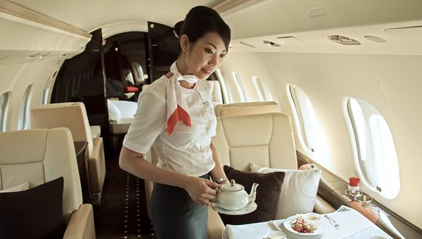Cabin Hostess in air