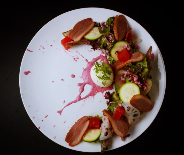 Watermelon & Smoked Duck Salad 2