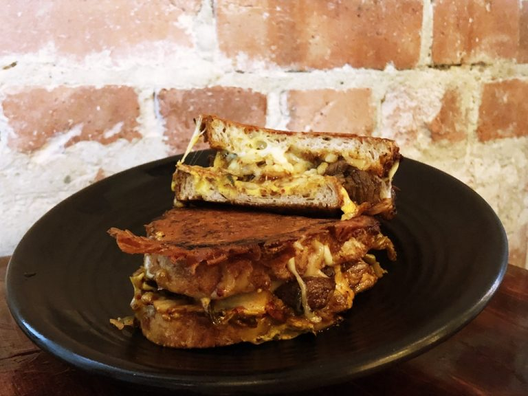Kimchi Galbi Grilled Cheese