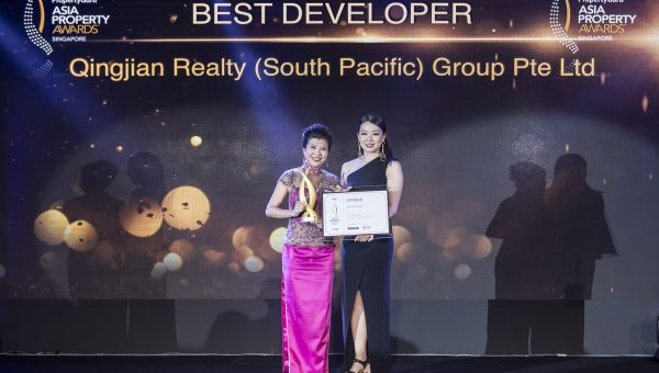 Best Developer Award 2018 by PropertyGuru Asia Property Awards - Qingjian Realty (South Pacific) Group Pte Ltd