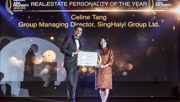Real Estate of the Year winner in Singapore –– SingHaiyi Group Ltd's group managing director Celine Tang