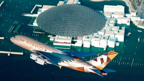 ETIHAD AIRWAYS A380 LOUVRE ABU DHABI FLY-BY