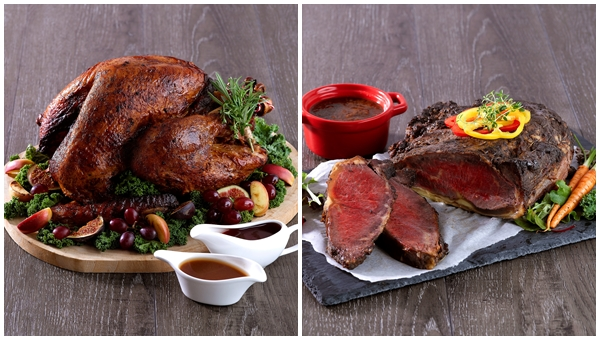 Traditional Roasted Turkey, Roasted Beef Striploin