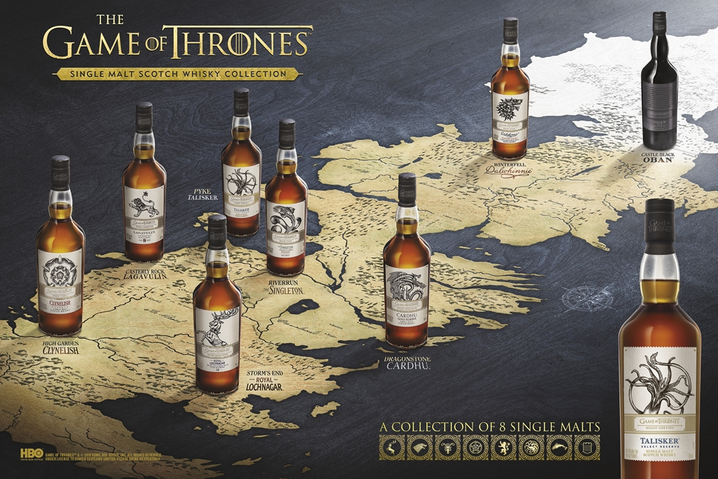 Game of Thrones Single Malt Scotch Whisky Collection_Westeros Map H