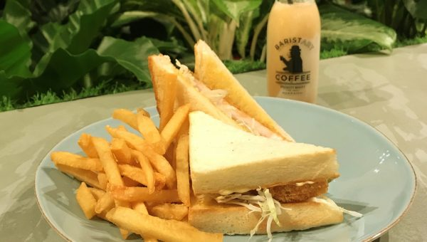 Tonkatsu Sando with Hokkiado Milk Coffee