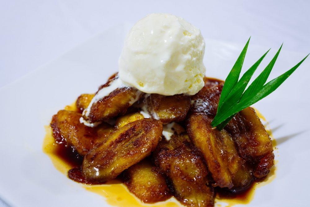 Banana Slices Caramelised with Gula Melaka