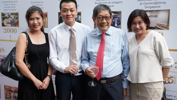 Regina Lim, Sean Ee (Rolex Singapore), Richard Chan, Pauline Tang (The Swatch Group)